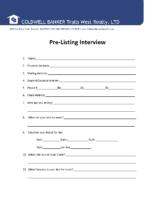PreListing Interview